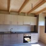 cocina combinada en casas de madera Carbonell