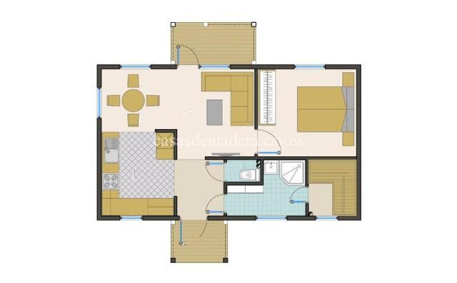 Casa de madera 003 1 - Casa de madera Modelo 003