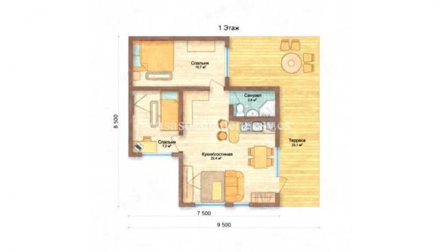 Casa prefabricada moderna M02 2 - Casa prefabricada moderna Modelo M02