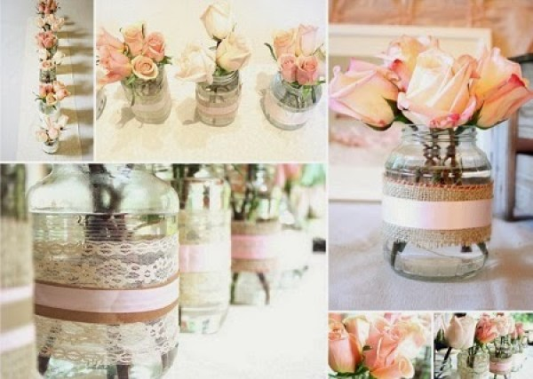 10 Ideas para Decorar Botellas Recicladas con Blondas991