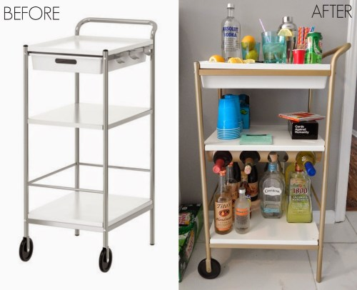 BeforeAfter Bar Cart