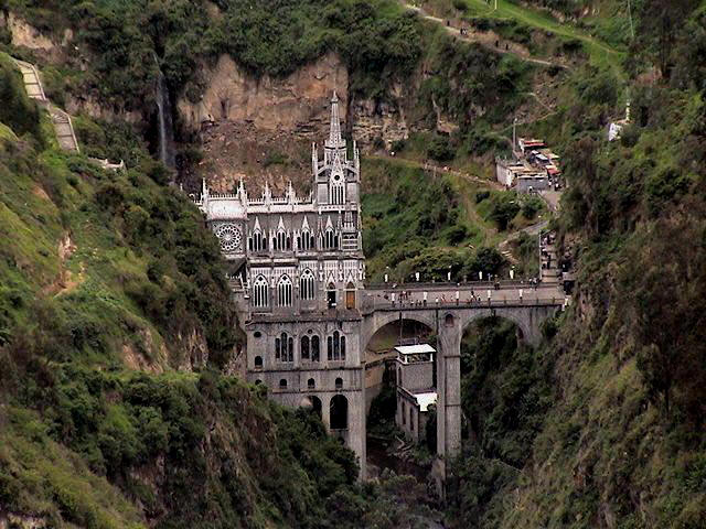 Las Lajas Cathedral-General view