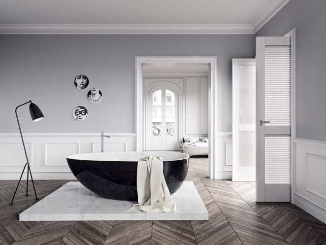 black-and-white-tub