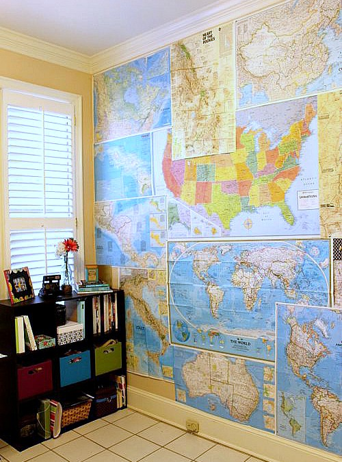 DIY-ideas-for-decorating-with-maps-map-wallpaper-lauren-likes