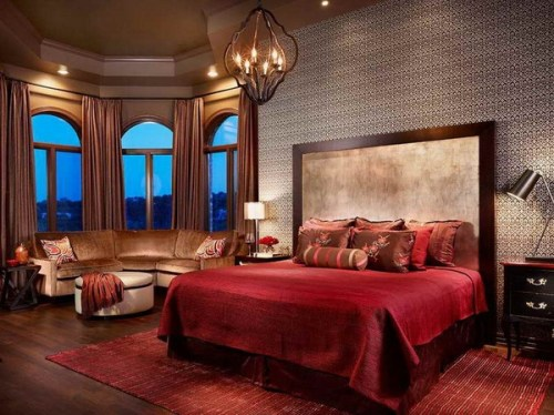 Sexy-Bedroom-Decor-with-red-carpet
