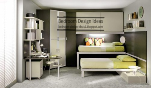 small-bedroom-design-ideas-cheap-bedroom-furniture-two-beds-two-tallboys-table-for-studieng-and-computer