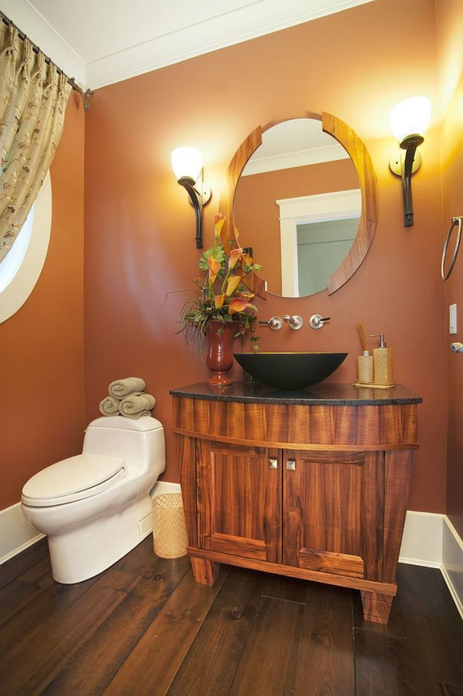 Orange-is-color-of-choice-inside-this-magnetic-powder-room