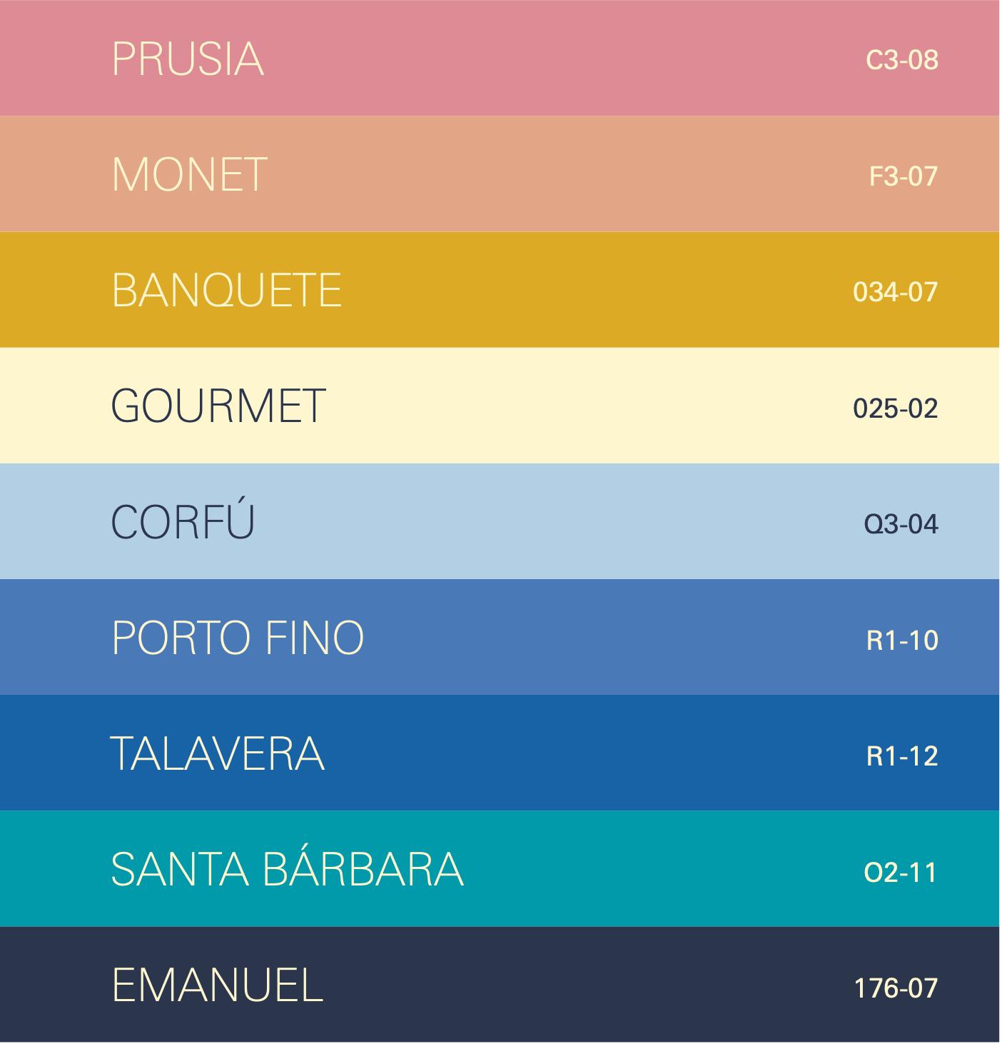 Tendencias de color Banquete