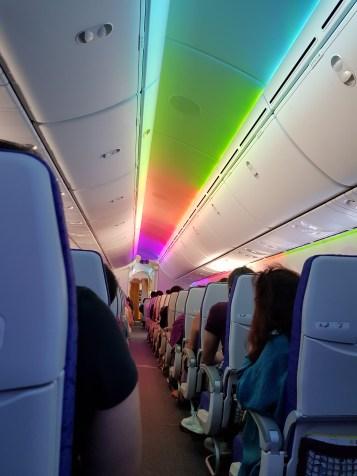 Lampu cabin yang colourful