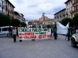 Tras la concentración nos dirigimos en manifestación espontánea por el centro de Graus para llegar a su Plaza Mayor.