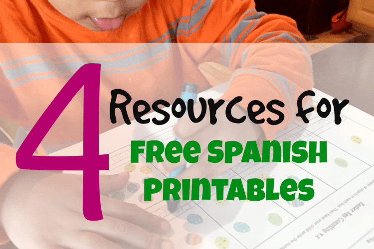 Spanish Sabado #3: Resources for Free Spanish Printables