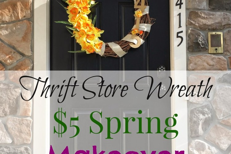 How To Makeover a Thrift Store Wreath for $5 Dollars