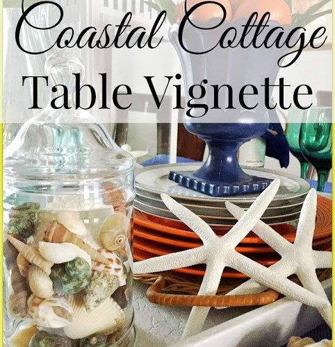 Colorful Coastal Table Vignette