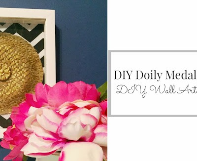DIY Wall Art Blog Hop: Doily Medallion Art