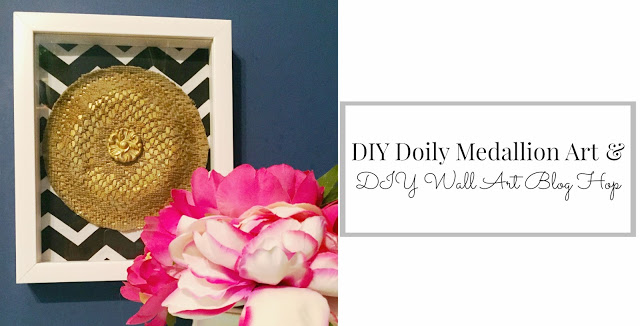 DIY Wall Art Blog Hop: Doily Medallion Art