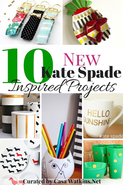 Kate Spade, inspired, key fob, pineapple, mug, canisters, organizers, color,
