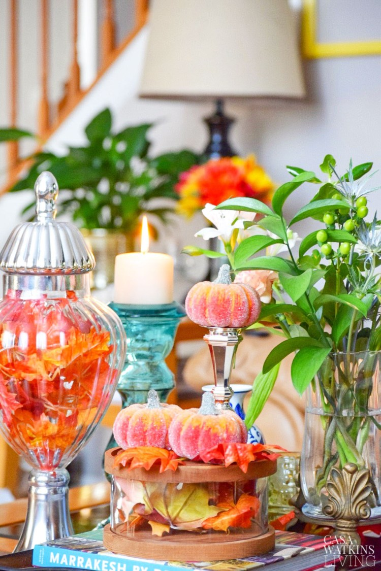 budget friendly decorating ideas for fall coffee table