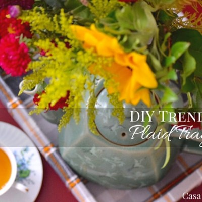 DIY Trendy Plaid Tray: Create and Share