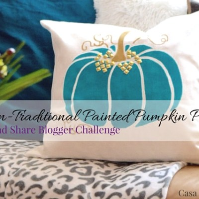 A Non-Traditional Painted Pumpkin Pillow: Create and Share