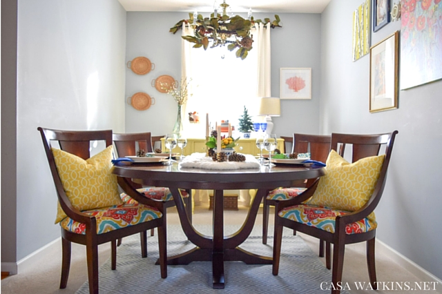 Dining Room Before 2015 Winter Home Tour Casa Watkins Global Eclectic