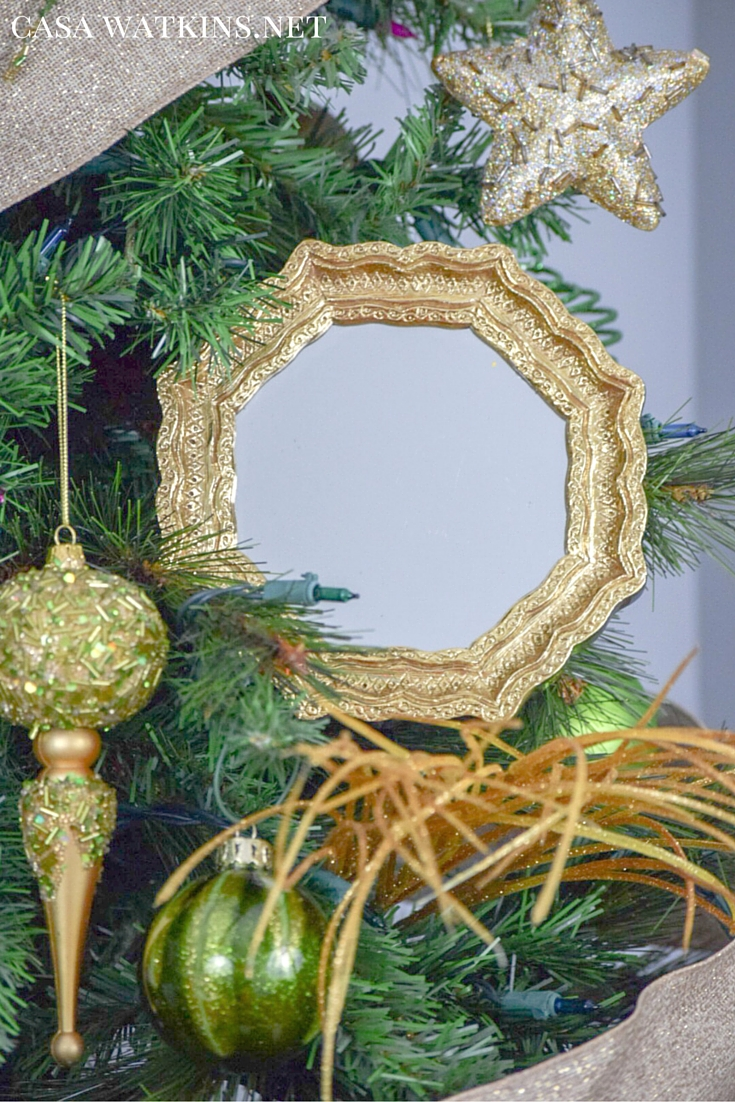 My Home Style: Green and Gold Global, Eclectic Christmas Tree - Casa ...