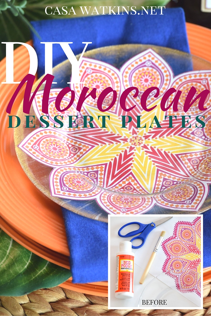 Check ...  sc 1 st  Casa Watkins Living & DIY Moroccan Dessert Plates with GraphicStock: Create and Share ...