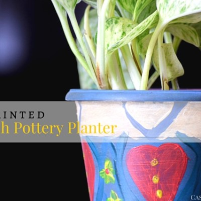DIY Spanish Pottery Planter