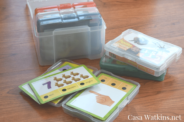 organization, storage, flashcards, homeschool, school