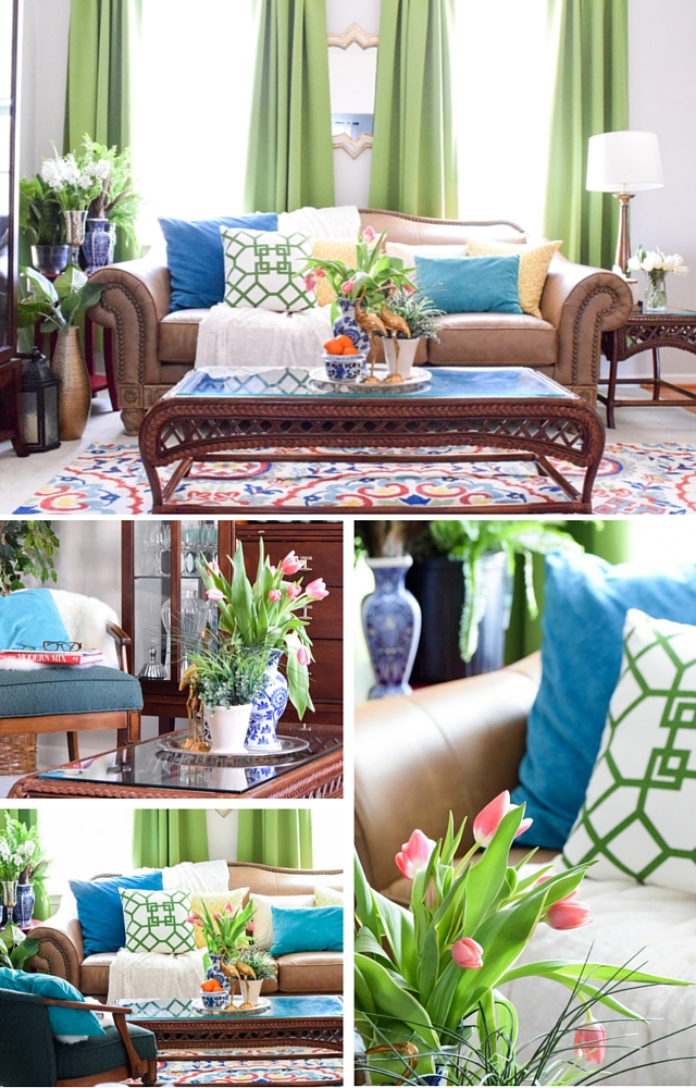 Global Eclectic spring living room from Casa Watkins Living