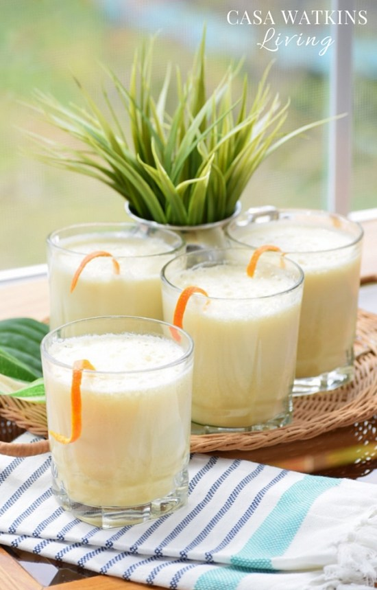 Tasty Dominican drink made from milk and orange juice!