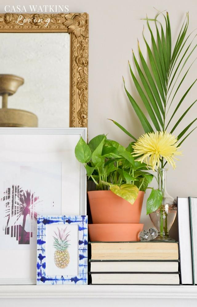 DIY indigo shibori frame painting tutorial