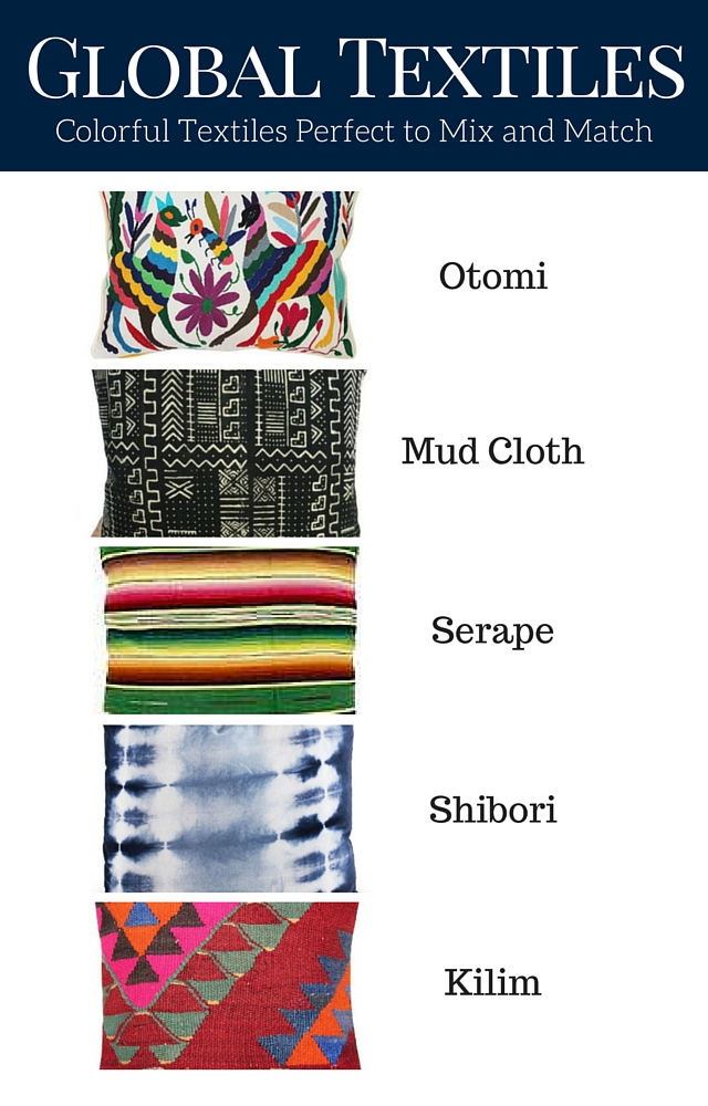 Get the global look by mixing these global textiles