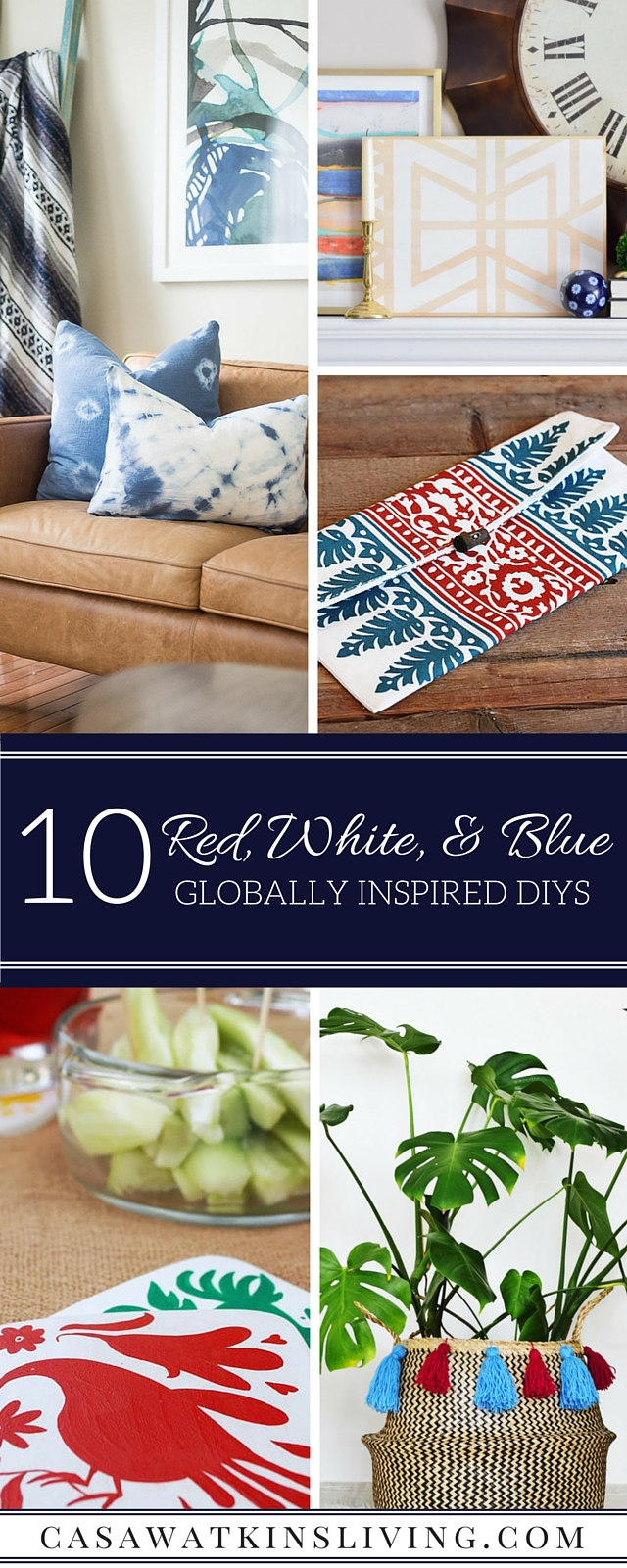 10 Globally inspired DIYs featuring red, white, and blue!
