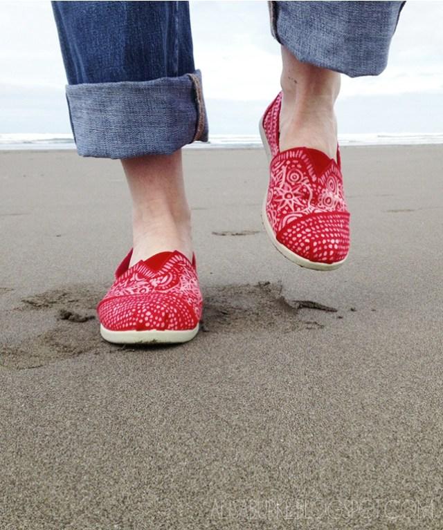 DIY bleached shoes by Alisa Burke