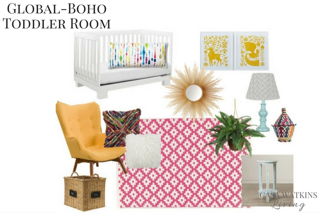 global-boho-girls-room-mood-board