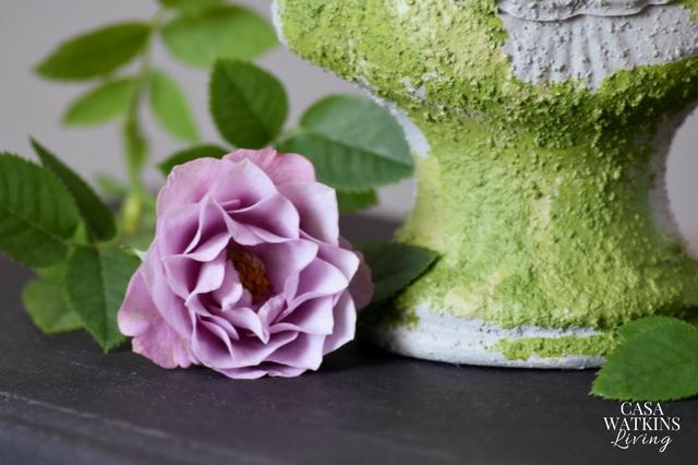 DIY faux moss jewelry organizer