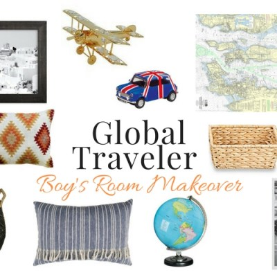 Boys Room Makeover: Global Traveler Theme