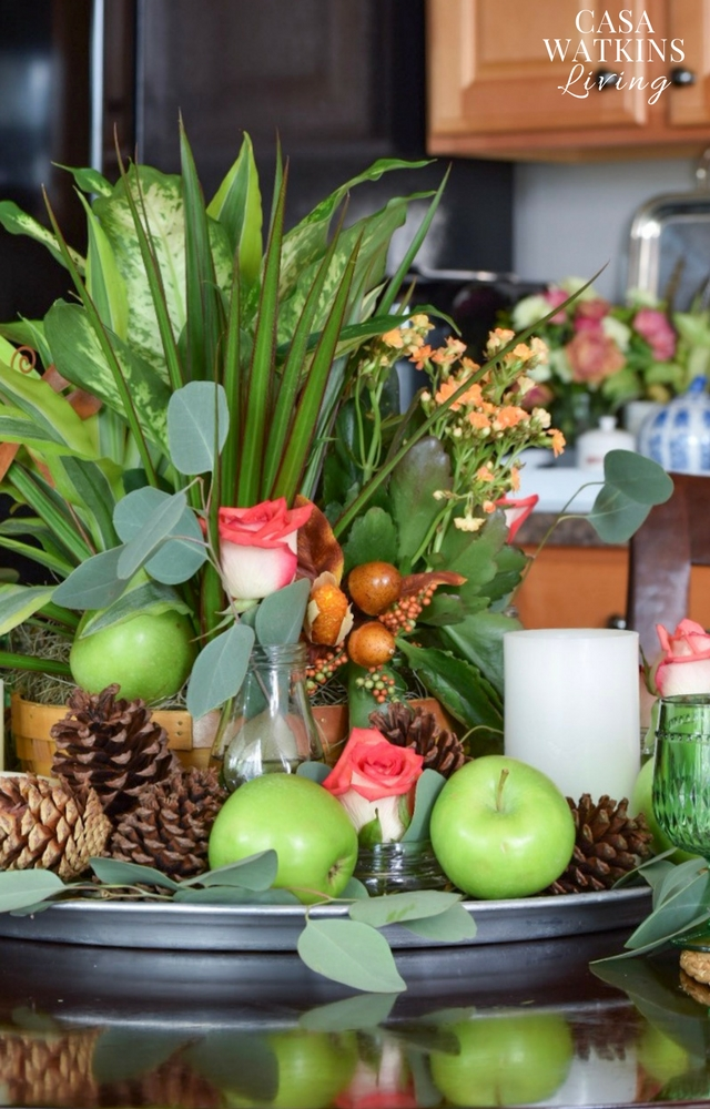 global boho fall centerpiece