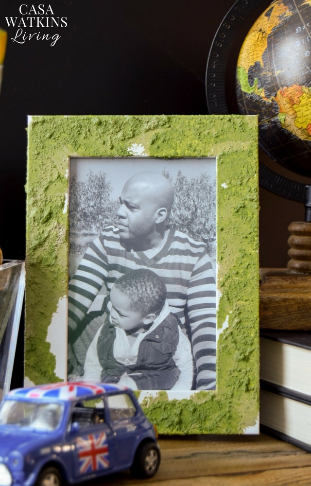 how to make a faux moss frame with paint