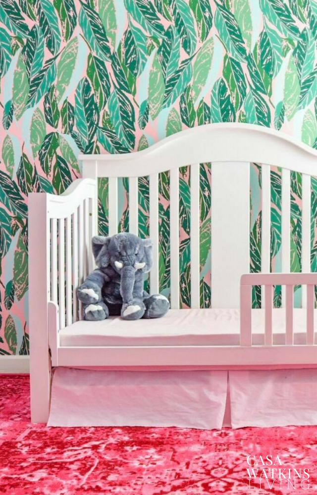 Creating boho girls room with wallpaper