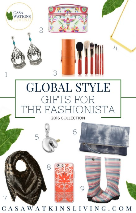 Gift guide for the fashionista with global style gifts!