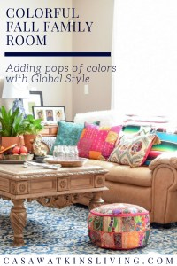 How to use pops of color in fall decor