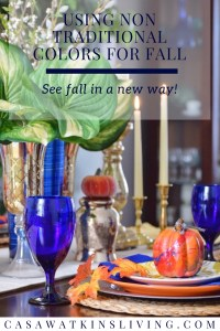 Using non-traditional colors in fall decor