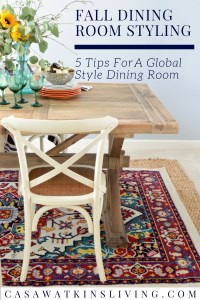 how to decorate global style dining room for fall