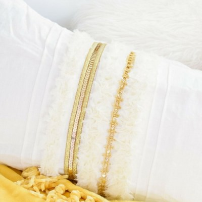 DIY Moroccan Wedding Blanket Pillow