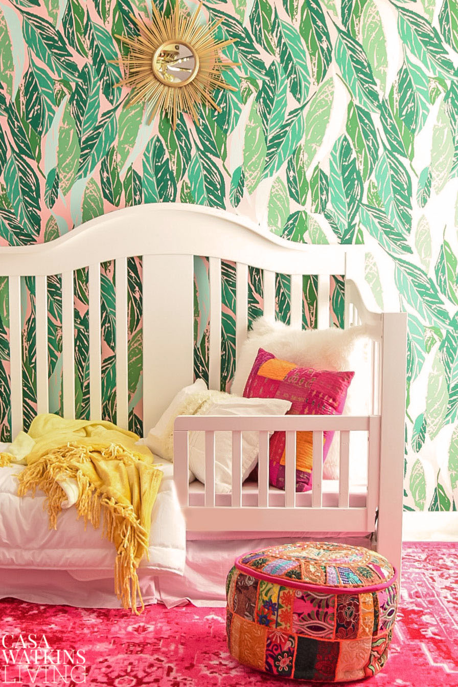 colorful boho girls room with global style accents