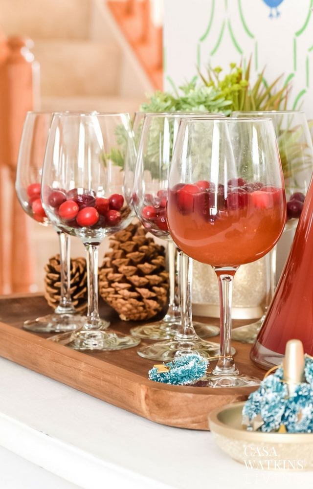 Have holiday punch ready to serve at entryway