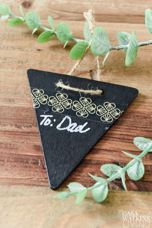How to make DIY chalkboard gift tags