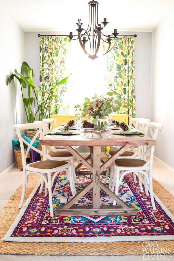 decorating dining room with color for winter