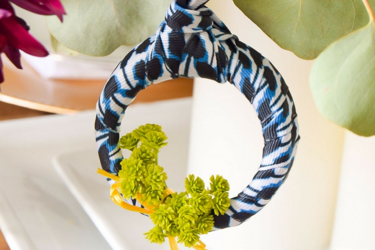 DIY Shibori Wreath Ornament